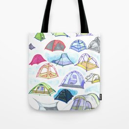 tents from a mountain vagary Tote Bag
