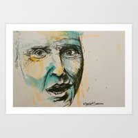 christopher walken Art Prints featuring Christopher Walken  by Maria Berlin