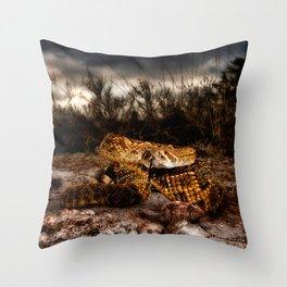 Rattlesnake-I Throw Pillow
