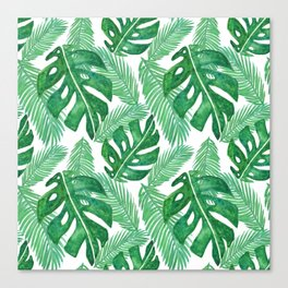 Tropical Leaf Pattern Canvas Print