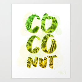 Coconut - Green Palette Art Print