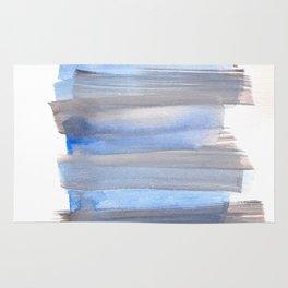 Blue Watercolor Background   Frozen Summer Series 172 Rug