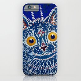"""""""Cat in Gothic Style"""" by Louis Wain iPhone Case"""
