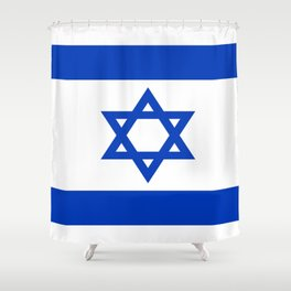Flag of Isreal Shower Curtain