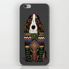 Basset Hound pewter iPhone & iPod Skin