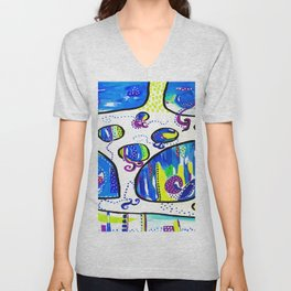The Wandering Jellies Unisex V-Neck
