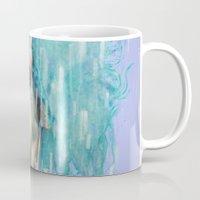 pastel goth Mugs featuring Pastel Scissorhands by Anne Blondie Bengard