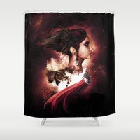 guardians Shower Curtains featuring The Guardians by Aleksei Kostyuk