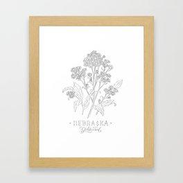 Nebraska Sketch Framed Art Print