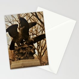 Eagles and Prey Sculpture in NYC Central Park Stationery Cards