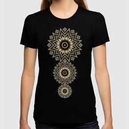 Gold Black Art Decor Diamonds v1 T-shirt