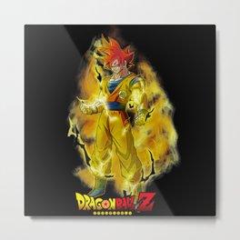 Super Saiyan Goku GG Metal Print