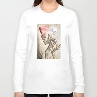 evil dead Long Sleeve T-shirts featuring Ash from The Evil Dead by Joe Badon