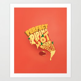 Pepperoni Pizza Lettering Art Print