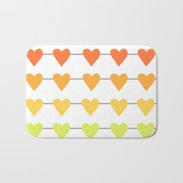 Rainbow Horizontal Heart Strings Bath Mat