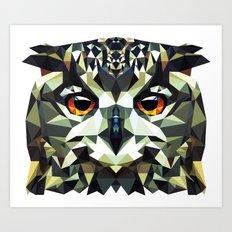 Polygon Owl Art Print