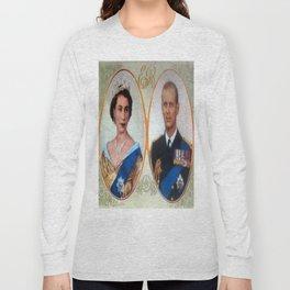 Queen Elizabeth 11 & Prince Philip in 1952 Long Sleeve T-shirt