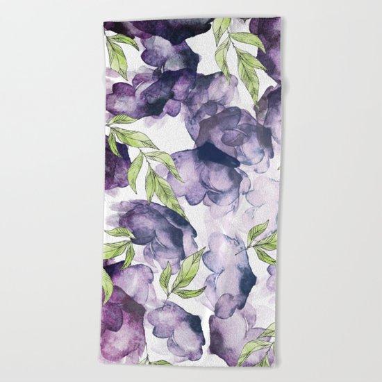 Watercolor + Ink Florals #society6 #decor #buyart Beach Towel