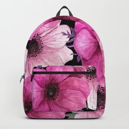 Elegant Floral Pageantry in Pretty Pink Pattern Backpack