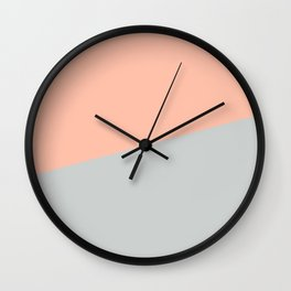 2COLOR | LIGHT SALMON + GRAY Wall Clock