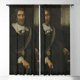 Jan Albertsz Rotius - Portrait of Jan Cornelisz Meppel, Lieutenant-Admiral of Holland and West-Fries Blackout Curtain