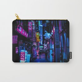 Tokyo's Moody Blue Vibes Carry-All Pouch