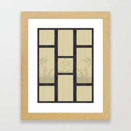 Tatami - Bamboo Framed Art Print