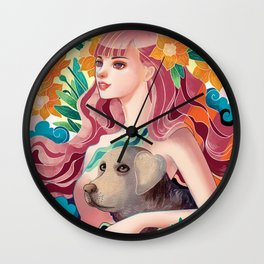 Dog Lover Wall Clock