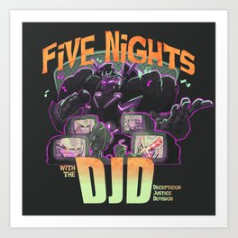 Long Nights with the DJD Art Print