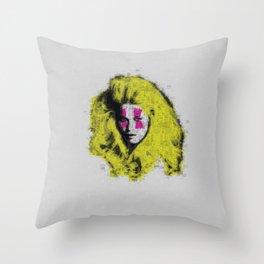 Claudia Schiffer - top model - pop icon Throw Pillow