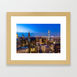 Manhattan - New York Framed Art Print