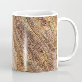 Rusty Latte // Orange Redish Stone Diagonal Texture Autumn Color Profile Coffee Mug