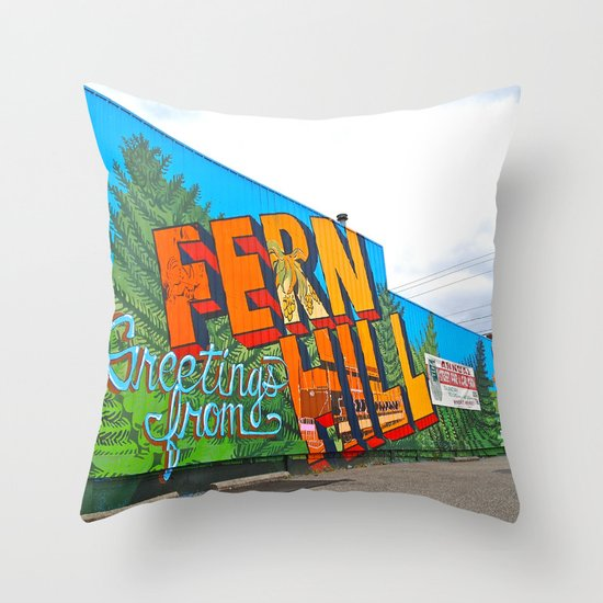Welcome to Fern Hill Throw Pillow