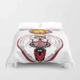 Cosmic Bloodshot Dragon Duvet Cover