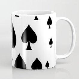 LOTS OF DECORATIVE BLACK SPADES CASINO ART Coffee Mug