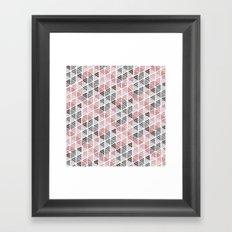 Diamond Floral Pattern Framed Art Print