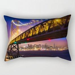 Bay Bridge at Sunset Rectangular Pillow