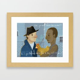 Creed Movie, Rocky quote illustration Framed Art Print