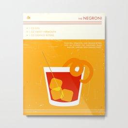 Negroni Cocktail Art Metal Print