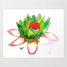 Alice's Water Lily Art Print
