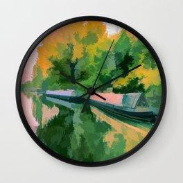 Art Of Narrow Boats Wall Clock