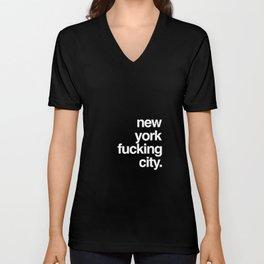 New York Fucking City Unisex V-Neck