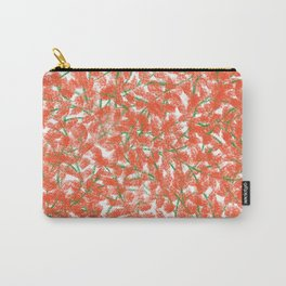 Pretty beautiful cute abstract red delicate little flowers elegant pattern. Gift ideas for flower and nature lovers. Feminine floral botanical pastel artistic design. Carry-All Pouch