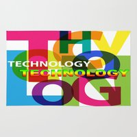 technology Area & Throw Rugs featuring Creative Title : TECHNOLOGY by Don Kuing