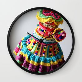 Watering Pompoms (2) Wall Clock