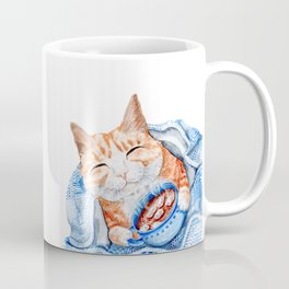 Happy Cat Drinking Hot Chocolate Coffee Mug