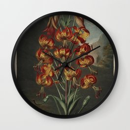 Temple of Flora : The Superb Lily Wall Clock