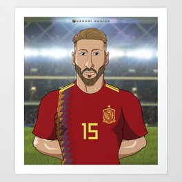 Sergio Ramos Spain Art Print