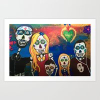 Sugar Skulls Family Portraits Art Print