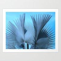 Tropical palms Art Print